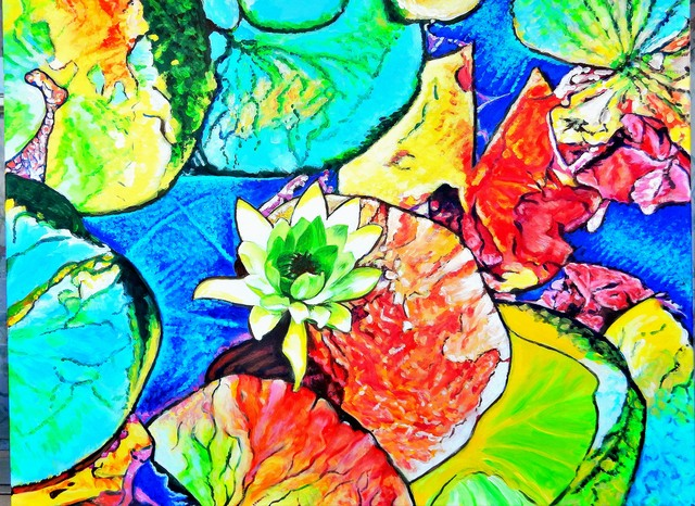 Dmitri Ivnitski  'Water Lily', created in 2020, Original Painting Acrylic.