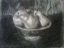 - artwork Pears-1264449942.jpg - 2009, Drawing Charcoal, Still Life