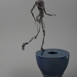 Djan Mulderij Artwork No Wireless Piece, 2014 Ceramic Sculpture, Dance