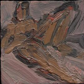 Djordje Sokolovski: 'nude 2', 2001 Oil Painting, nudes. Artist Description:   female nude, oil on cardboard, small  ...