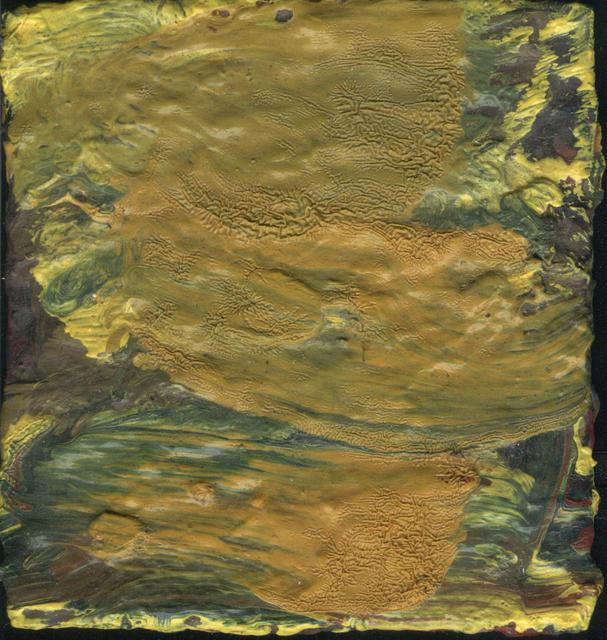 Djordje Sokolovski  'Yellow  Tinny Abstract 1', created in 2011, Original Painting Oil.