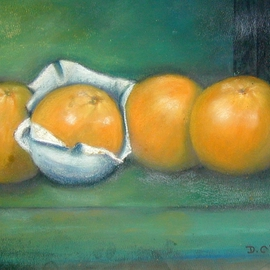 Dorothy Okray Artwork Oranges, 2008 Pastel, Food
