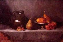 - artwork Earthenware_and_Fruit-1123644801.jpg - 2005, Painting Oil, Still Life