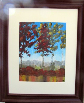 Debra Knecht Artwork Summer Reflections, 2014 Acrylic Painting, Trees