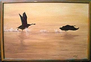 Dorothy Nuckolls Artwork Morning Flight, 2000 Oil Painting, Nature