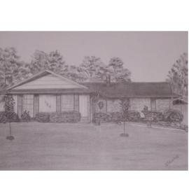 Dorothy Nuckolls Artwork Rohan Home 1, 2005 Pencil Drawing, Home