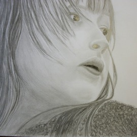 Dorothy Nuckolls Artwork The Glance, 2010 Pencil Drawing, Children