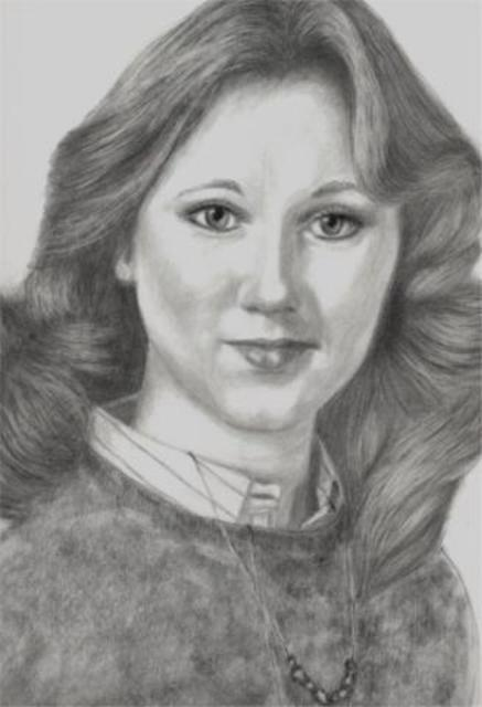 Dorothy Nuckolls  'Close Up Of Macky Portrait', created in 2002, Original Drawing Pencil.