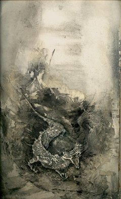 Dimitri Lazaroff Artwork Kirin emerging from waves, 2010 Other Drawing, Seascape