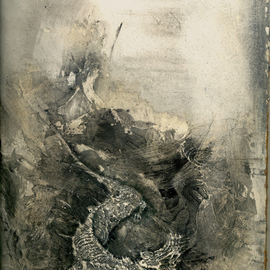 Dimitri Lazaroff: 'Kirin emerging from waves', 2010 Other Drawing, Seascape. Artist Description:  sea, ocean, kirin, dragons, waves, water ...