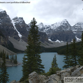 David Bechtol: 'Solitude', 2008 Color Photograph, Landscape. Artist Description:  Quiet time at Moraine Lake. Nikon D70 ...