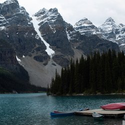 , Moraine Lake Canoes, Landscape, Request Price