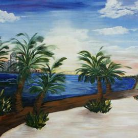 Deborah Leyva: 'Tampa Rising', 2012 Acrylic Painting, Magical. Artist Description:  This work was created to show the beautiful sunrise across Tampa Bay in the morning. The original has been donated to the Univeristy of Tampa. Prints are available. ...