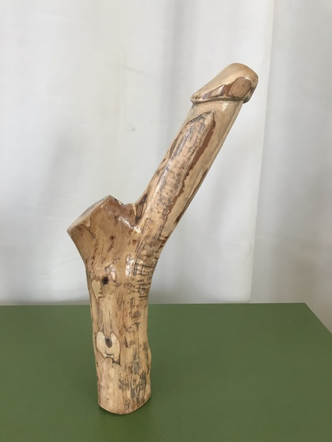 David Maranzana  'Phallic Wood Sculpture', created in 2020, Original Sculpture Wood.