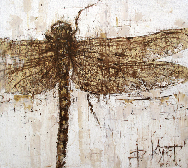 Dmitry Kustanovich  'The Dragonfly', created in 2016, Original Painting Oil.