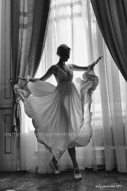 Dmitry Savchenko: 'Playing shadow Limited Edition ', 2015 Black and White Photograph, Dance. Artist Description:   Artwork from the series Potocki PalaceThe year since creation - 2011.Printed - 2015.Limited edition 2/ 50, printed on canvas, numbered and hand signed by artist with a certificate of authenticity.Hand signed by author ( Oil, tiniest brush ) on the front and hand signed by author on the ...