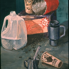 Dung Nguyen: 'JAVA', 2001 Oil Painting, Still Life.