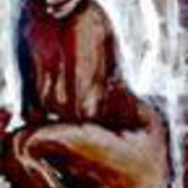 Domingo Garcia: 'Ana', 1959 Oil Painting, nudes.