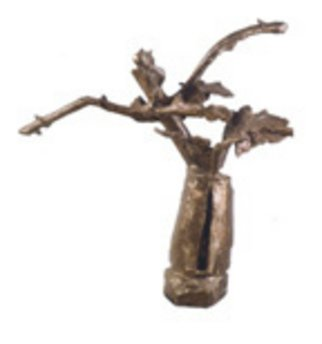 Bronze Sculpture by Domingo Garcia titled: Flower Vase, 2004
