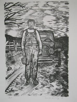 Donald Mccray: 'Mr Stuckey', 2005 Lithograph, Portrait.
