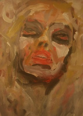 D. R. Redner Artwork BLOODSHOT BLOND, 2013 Acrylic Painting, Figurative