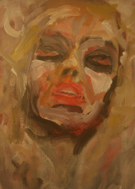 Artist D. R. Redner. 'BLOODSHOT BLOND' Artwork Image, Created in 2013, Original Painting Acrylic. #art #artist