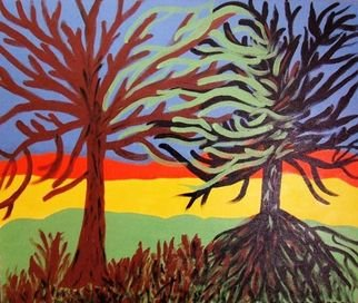 Artist: Aldona Rozanek - Title: The meeting  - Medium: Acrylic Painting - Year: 2010