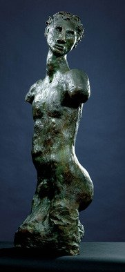 Donatella Richtman: 'warrior', 1987 Bronze Sculpture, Figurative. Artist Description: a youngster, who is searching...