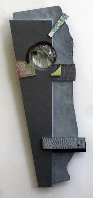 Don Dougan: 'MARCH RESUMPTIONS ANNOUNCED AGAIN', 2013 Mixed Media Sculpture, Abstract Landscape. Artist Description:  green slate, glass, Georgia foliated talc, North Carolina jade, jade, Vermont Radio Black marble, bloodstone, copper, aluminum, brass, silver leaf ...