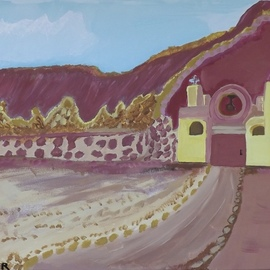 Donald Koester Artwork mountain mission, 2015 Acrylic Painting, Southwestern