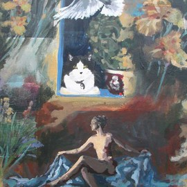 Donna Gallant Artwork And she came in the spring to take him away, 2006 Acrylic Painting, Romance