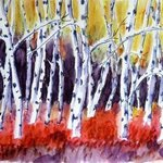 Birch Trees In Fall, Donna Gallant