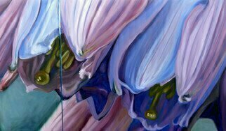 Donna Gallant: 'Compassion', 2014 Oil Painting, Floral.             Part of my CLOSE UP series of abstracted views of the inner flower.  Believe it or not this piece is of a hosta flower.  ...