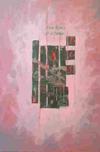 Donna Gallant  'Five Roses And A Fence', created in 2003, Original Collage.