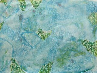 Donna Gallant: 'Floating Fragments', 2009 Monoprint, Abstract Landscape.        Soft and suttle, this piece represent looking under water.  ...