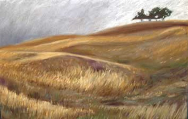 Donna Gallant  'Prairie Trees', created in 2008, Original Collage.