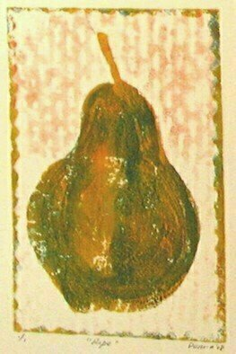 Donna Gallant: 'Ripe', 2008 Monoprint, Still Life.  Ripe and ready.  Full of rich color and texture this piece illustrated a the makings of a true print. ...