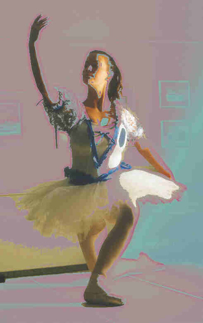 Donna Gallant  'Soft Ballet 2', created in 2002, Original Collage.