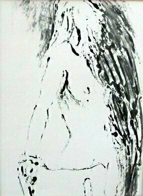 Donna Gallant: 'Turning 1', 2009 Monoprint, Figurative.    Different medias create different expression with the human form. ...