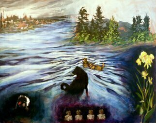 Donna Gallant: 'Which way to turn', 2011 Mixed Media, Fantasy.    A piece from the artists series called SECRETS.  Fantasy like and story is up to the viewer to create. ...