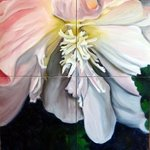 White Begonia By Donna Gallant