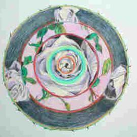 Donna Gallant Artwork White Rose, 2005 Pencil Drawing, Floral