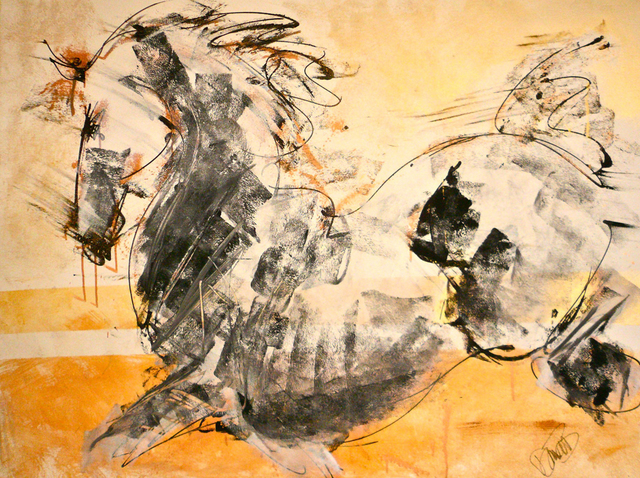 Donna Bernstein  'Sun Stallion', created in 2011, Original Painting Ink.