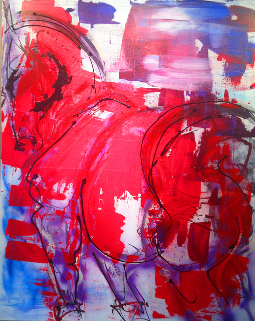 Donna Bernstein  'The Patriot', created in 2012, Original Painting Ink.