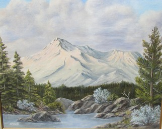 Donna Drickey Artwork BELOVED MOUNT SHASTA, 2001 Oil Painting, Mountains