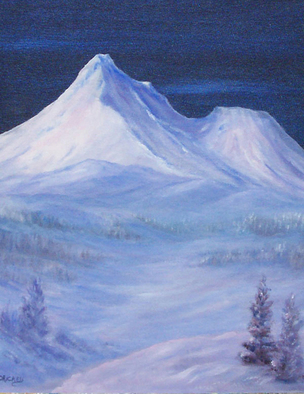 Painting by Donna Drickey titled: MYSTICAl SHASTA, created in 2007