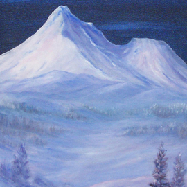 Donna Drickey Artwork MYSTICAl SHASTA, 2007 Oil Painting, Mountains