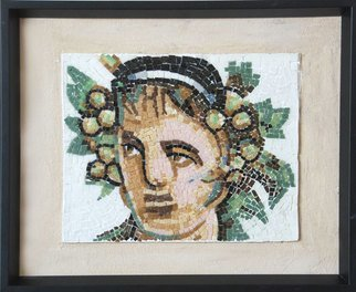 Jerry Reynolds: 'Bacchus Roman God of Wine', 2015 Mosaic, History.     Mosaics are all one of a kind hand made to order. Each mosaic is an authentic piece of art unique to itself. No two mosaics are ever alike.         ...