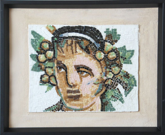 Jerry Reynolds  'Bacchus Roman God Of Wine', created in 2015, Original Mosaic.