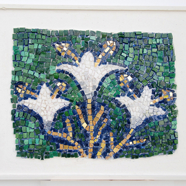 Jerry Reynolds Artwork Lilies, 2011 Mosaic, Religious